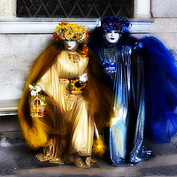Buy canvas prints of Carnaval; Blue And Gold. by Steve de Roeck
