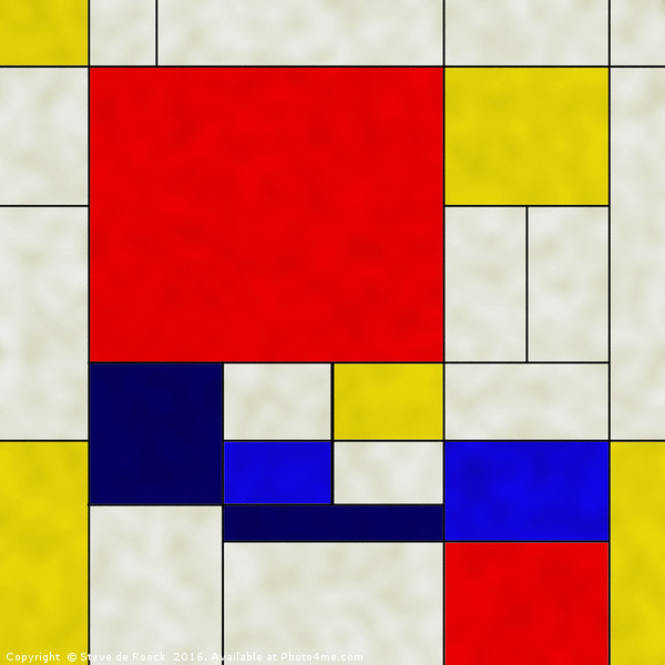 Mondrian Is A Square Canvas print by Steve de Roeck