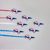 Buy canvas prints of Patrouille de France, Close Formation by Steve de Roeck