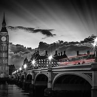Buy canvas prints of LONDON Westminster Bridge at Sunset by Melanie Viola
