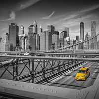 Buy canvas prints of BROOKLYN BRIDGE Manhattan View by Melanie Viola