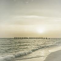 Buy canvas prints of Gasparilla Island Sunset | Vintage by Melanie Viola