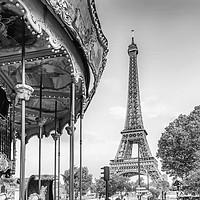 Buy canvas prints of Typical Paris | monochrome by Melanie Viola