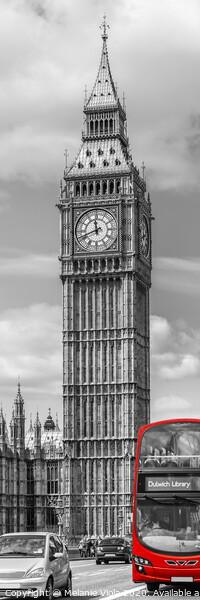 Elizabeth Tower | Vertical Panorama Acrylic by Melanie Viola