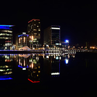 Buy canvas prints of Media City by Rob Mcewen