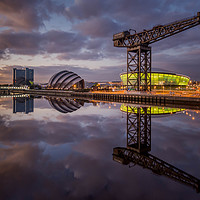Buy canvas prints of Glasgow Clydeside by Klikiti Klik