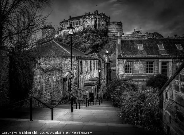 Edinburgh Castle Canvas print by Klikiti Klik