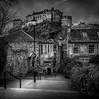Buy canvas prints of Edinburgh Castle by Klikiti Klik