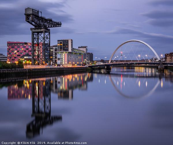 Glasgow Canvas print by Klikiti Klik
