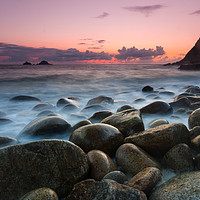 Buy canvas prints of Porth Nanven by Michael Brookes