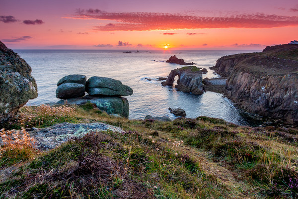 Land's End Sunset Canvas print by Michael Brookes