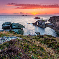 Buy canvas prints of Land's End Sunset by Michael Brookes