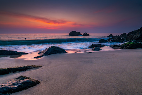 Pastel dawn at Porthgwidden beach Canvas Print by Michael Brookes
