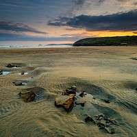 Buy canvas prints of Low tide at Perranporth by Michael Brookes