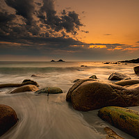 Buy canvas prints of Beautiful Porth Nanven by Michael Brookes