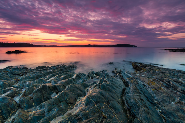 Carrick Roads Sunrise Canvas print by Michael Brookes