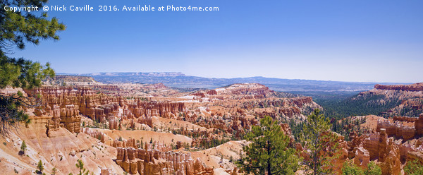 Bryce Canyon Panorama Canvas Print by Nick Caville
