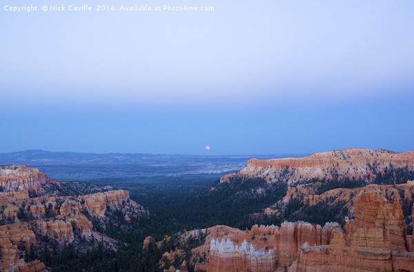 Bryce Canyon at Sunset and Moonrise Canvas Print by Nick Caville