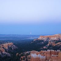 Buy canvas prints of Bryce Canyon at Sunset and Moonrise by Nick Caville
