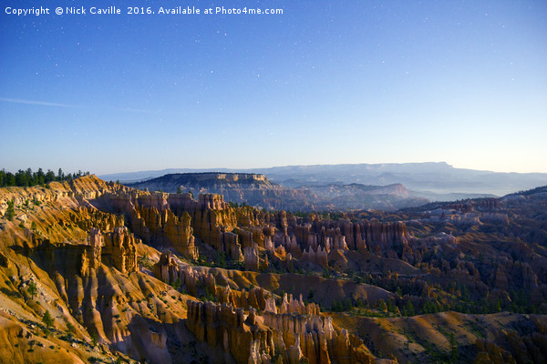 Bryce Canyon at Midnight Canvas Print by Nick Caville