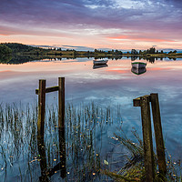 Buy canvas prints of Fishing boats Loch Rusky by George Robertson