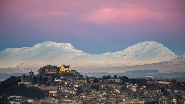 Stirling Castle Just before Sunrise Canvas print by George Robertson