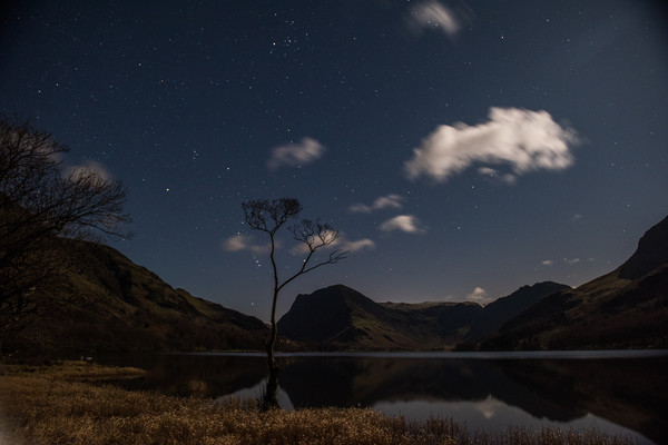 Buttermere by night Canvas print by George Robertson