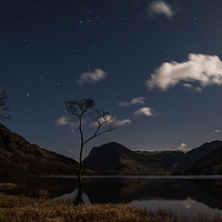 Buy canvas prints of Buttermere by night by George Robertson
