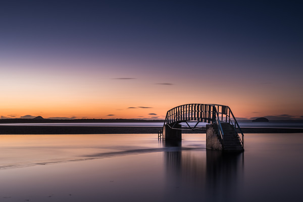 Bridge to Nowhere, Belhaven Bay  Canvas print by George Robertson