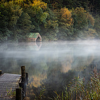 Buy canvas prints of Early morning mist by the Old Boathouse  by George Robertson