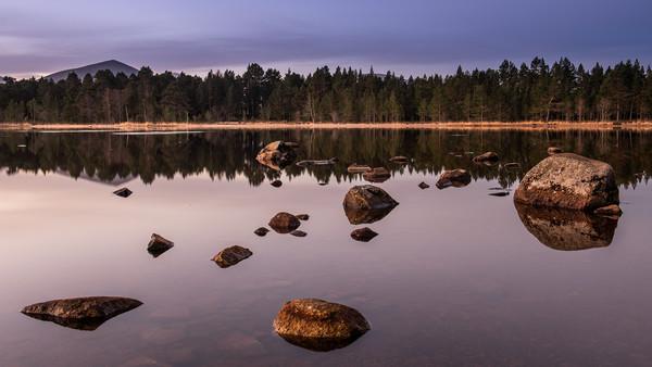 First light over Loch Morlich, Scotland Canvas print by George Robertson