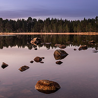 Buy canvas prints of First light over Loch Morlich, Scotland by George Robertson
