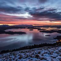 Buy canvas prints of Winter sunrise on Loch Lomond by George Robertson