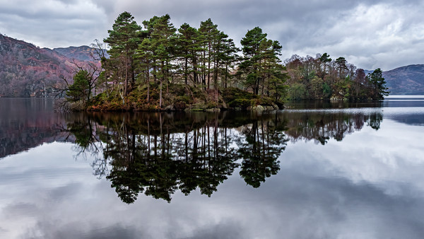 Reflections of Loch Katrine, Scotland Canvas print by George Robertson