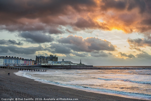 Aberystwyth Sunset Canvas print by Dan Santillo