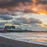 Buy canvas prints of Aberystwyth Sunset by Dan Santillo