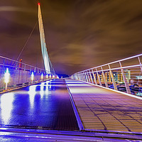 Buy canvas prints of Sail Bridge in SA1, Swansea by Dan Santillo