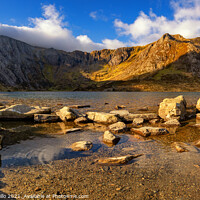 Buy canvas prints of Llyn Idwal lake in the Snowdonia National Park by Daniel Santillo
