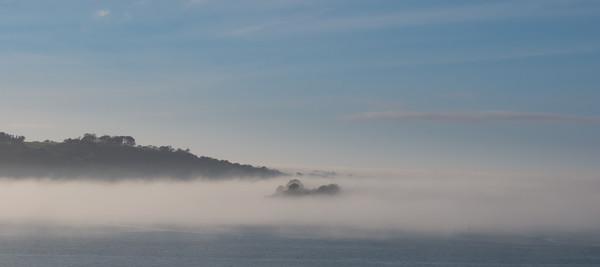 Drake's Island in Mist Canvas print by Jon Rendle