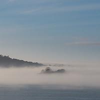 Buy canvas prints of Drake's Island in Mist by Jon Rendle