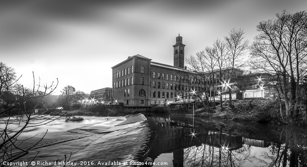 Salts Mill Canvas print by Richard Whitley