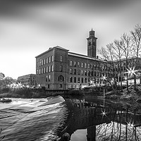 Buy canvas prints of Salts Mill by Richard Whitley