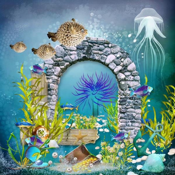 Underwater world 1  Framed Print by Dagmar Giers