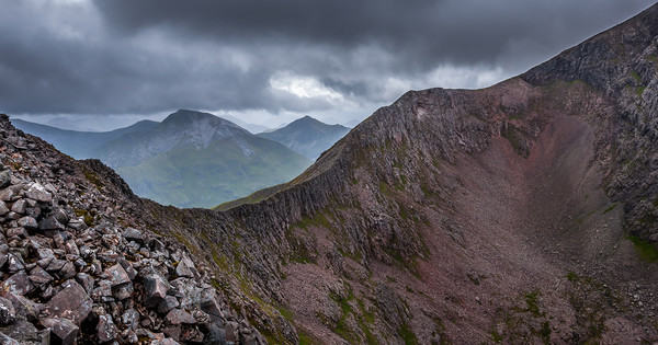 The Carn Mor Dearg Arete Canvas print by Paul Andrews