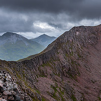 Buy canvas prints of  The Carn Mor Dearg Arete by Paul Andrews