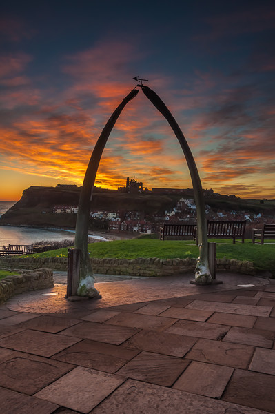 Whitby Whale Bones Canvas print by Paul Andrews