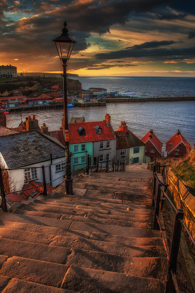 Whitby Harbour Canvas print by Paul Andrews