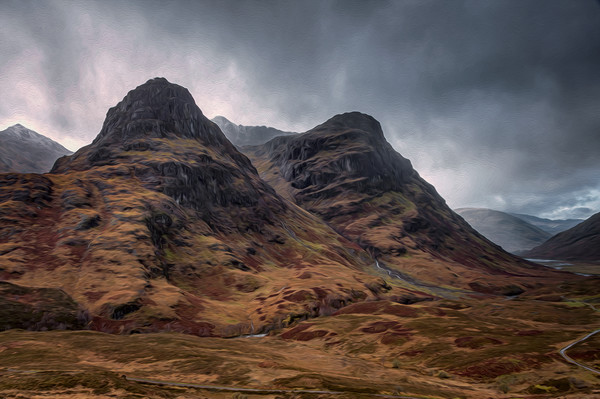 The Sisters of Glencoe Canvas print by Paul Andrews