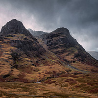 Buy canvas prints of The Sisters of Glencoe by Paul Andrews