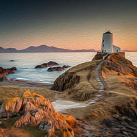 Buy canvas prints of Twr Mawr Lighthouse by Paul Andrews